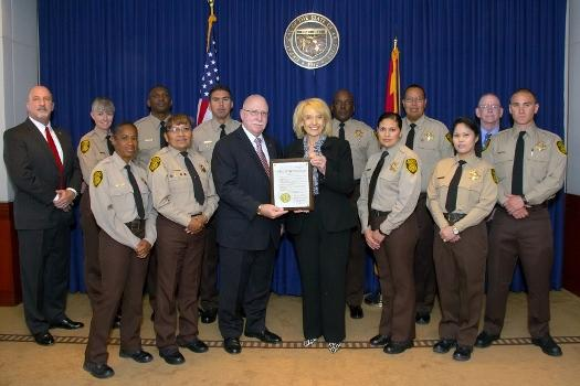 governor brewer honors arizona correctional officers