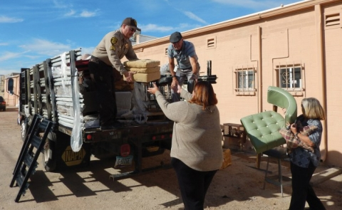 ADC Gaurd Hands Off Refurbished Furniture to CAAFA