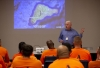 Professor Terry Hunt presents his research to inmates at ASPC-Tucson
