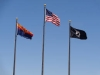 Arizona State, US, POW Flags for Vets Day