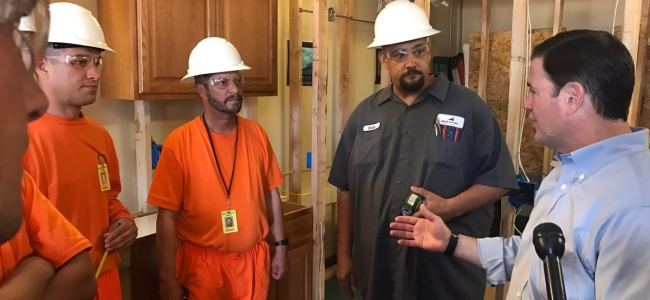 Arizona Governor Doug Ducey Discusses Career Training with ADC Inmates