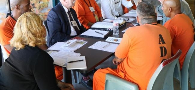 Prisoners meet with Director Charles Ryan and Arizona Town Hall